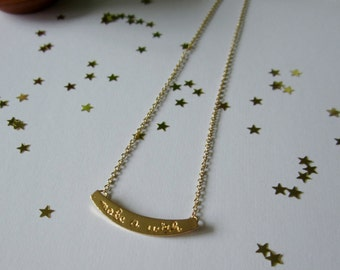 Make a wish. Necklace. Free shipping.
