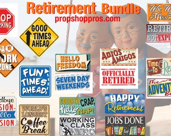 Retirement Photo Booth Props | Retirement Signs | Photo Booth Props | Prop Signs