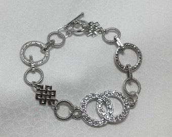 Silver Circle Glitz & Glimmer Bracelet