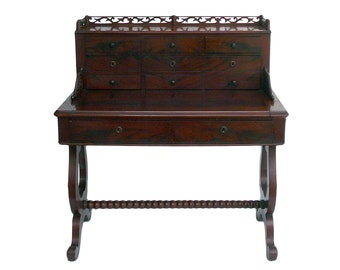 antique european writing desk with drawers and pullout top cs1029e