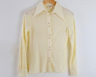 70s Blouse  |  Women's Vintage 70s Shirt  |  Retro 1970s Shirt