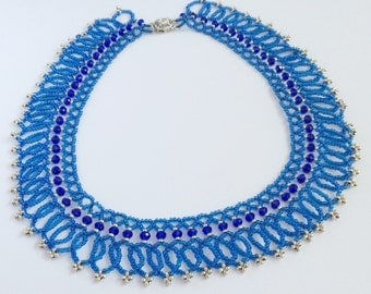 Beads and Swarovski Crystals Necklace
