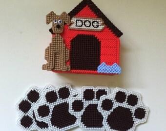 Doghouse coaster set