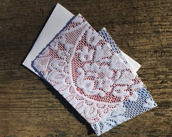 Handmade Victorian lace stationary