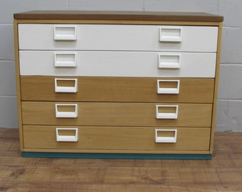 Upcycled Plan Chest