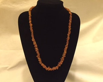 Raw Baltic Amber necklace (long)