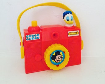 Vintage Mickey Mouse and Donald Duck Camera Music Box