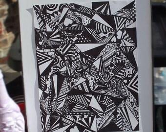"""Pen & Ink Art """"Insomnia"""""""