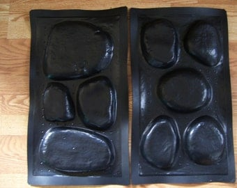 2 River Rock Stone veneer concrete plastic molds..buy 1 get 1 FREE