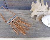 Earthy Macrame Necklace - Boho Necklace - Macrame Pendant - Boho - Bohemian - Gift for her - Tabak Pendant - Mocha