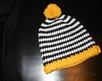 POP OF YELLOW, crochet hat { child size }