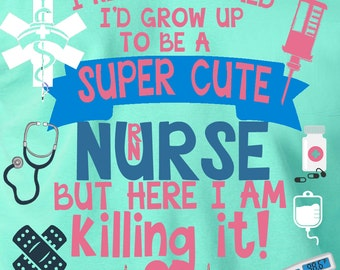 Super Cute Nurse RN LPN MA Monogrammed Customized Personalized Great Gift