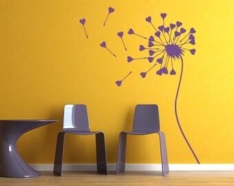 rvz960 Wall Decal Vinyl Sticker Art Decor Bedroom Flowers Bedroom Dandelion