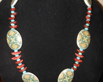 Hand made necklace in Bohemian style