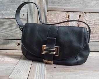 Liz Claiborne  Vintage Black Leather, LIZ CLAIBORNE Purse, handbag leather purse,   like new condition, lovely medium size black handbag