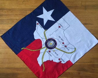 Vintage Texas State bandana
