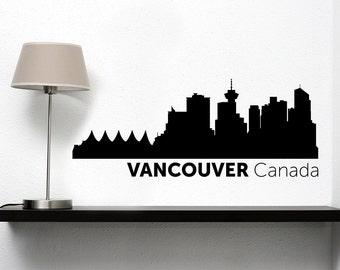 Vancouver City Skyline Vinyl Decal