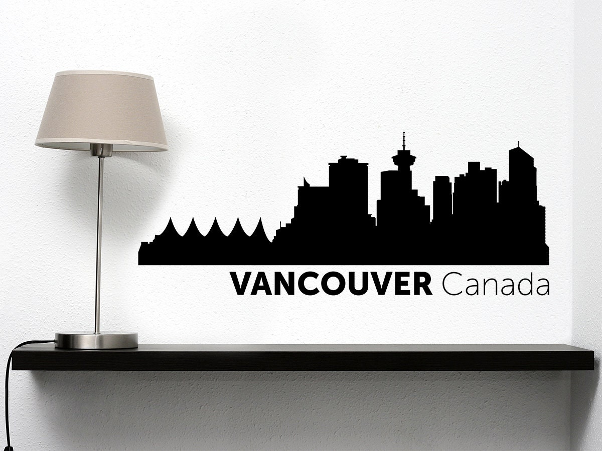 Vancouver City Skyline Vinyl Decal - Custom vinyl decals vancouver