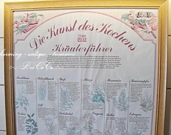 Antique XL image, teaching card herbs