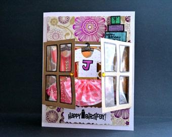 Wardrobe Greeting card, Cupboard Greeting card, Unique greeting card, Birthday card