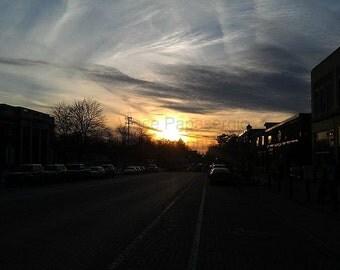 Sunset, Main Street East Aurora, NY