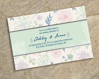 Invitation wedding flowers