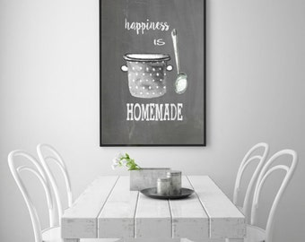 happiness is homemade, happy, kitchen, decor