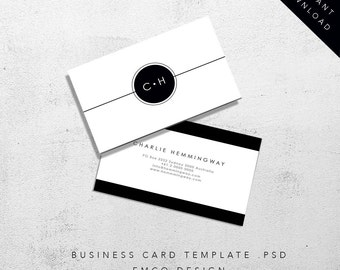 Hemingway business card template   Printable business card   Business stationary  