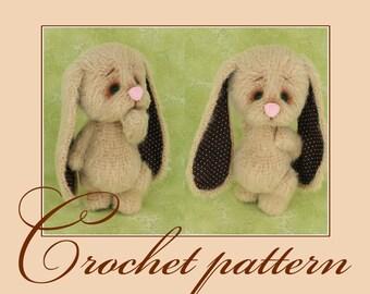 Bunny Melancholy-Amigurumi Crochet Pattern PDF file by Anna Sadovskaya