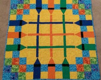Crayon Patchwork Stroller Quilt