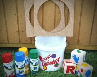 Giant outdoor Twister Lawn Game, Dice!!