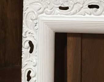 Beautifully Carved Antique Wood Frame