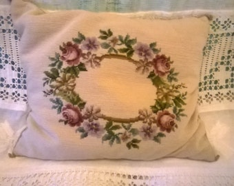 Shabby real tapestry, Petit point