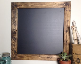 24x24 Rustic Wood Chalkboard Wedding Sign Menu Board
