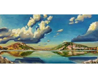 Devils Lake, Wisconsin State Park, Baraboo - Fine Art Giclee PRINT [Oil Painting, landscape, panoramic]