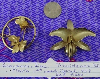 Vintage Giovanni Floral Brooches