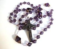 Purple Crystal Wall Rosary