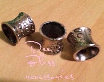 Silver Tube Dread lock jewelry