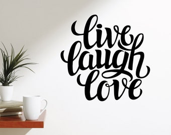 Live Laugh Hope Wall Decal Sticker VC0150
