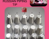 Russian tulip tips piping icing nozzles pastry frosting tips 15 set free shipping