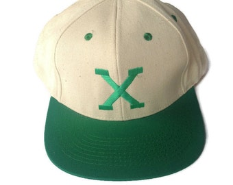 Green and white malcolm x hat snapback nos deadstock 90s!!!!!!!!