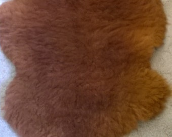 Sheepskin rug from our very own Rare Breed Dorset Downs