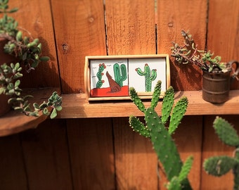 Cacti Decor Trays Jungalow Style Decor Home Decor Gift For Girlfriend Jungalow