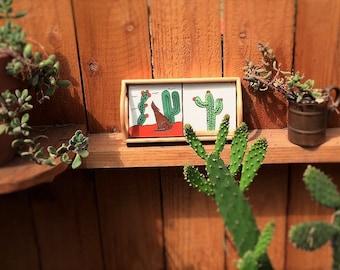 Cacti Decor Trays /Jungalow Style Decor / Home Decor / Gift For Girlfriend / Jungalow Nightstand / Cactus Planter / Cactus Planter Pots