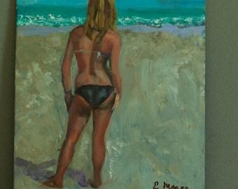 Girl in Two Piece Swimwear