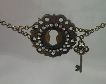 Steampunk Escutcheon (Key Hole) Toggle Bracelet