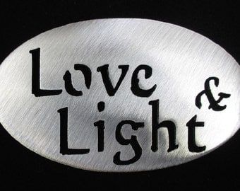LOVE and LIGHT  MAGNET-Door, Fridge Locker, Steel, Stocking stuffer, Door Prize, Wedding favor Super Strong 5lb