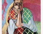 HENRI MATISSE 1935 Litho print w/COA. Femme a la Violette Matisse 1927. Rare Art Print. Unique Gift Idea. Exclusive Rare Art. Free Shipping