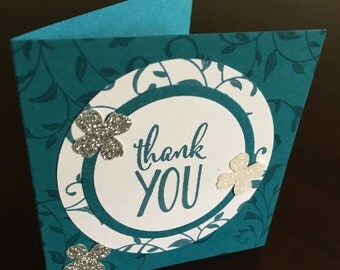 """Thank you card set, pack of 3""""x3"""" cards, card sets, thank you cards"""