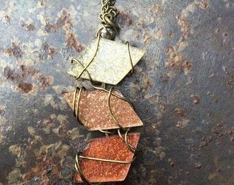 Geometric Necklace (Gold, Rose Gold, Bronze)